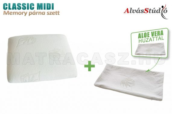 AlvásStúdió Classic Midi memory párna szett - Aloe Vera huzattal