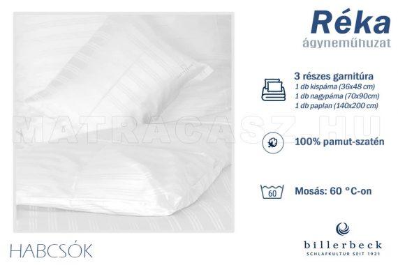 Billerbeck Réka 3 részes pamut-szatén ágyneműhuzat - Habcsók