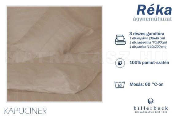 Billerbeck Réka 3 részes pamut-szatén ágyneműhuzat - Kapucíner