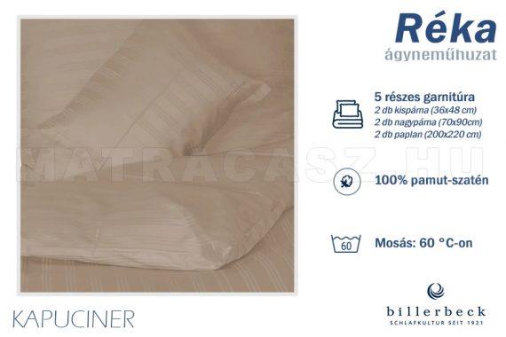 Billerbeck Réka 5 részes pamut-szatén ágyneműhuzat - Kapucíner