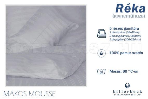 Billerbeck Réka 5 részes pamut-szatén ágyneműhuzat - Mákos mousse