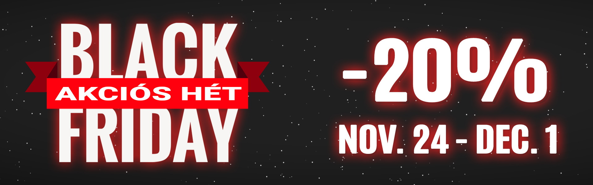 2020 Black Friday akciók a Matrac Ász -nál