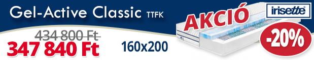 Irisette gél-active classic 160x200 raktárkisöprés akció
