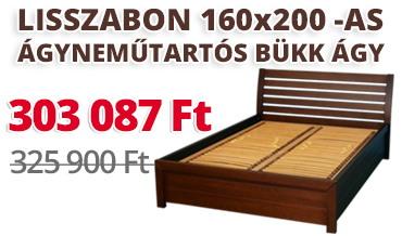 Lisszabon 160x200-as ágyneműtartós bükk ágy kedvezménnyel