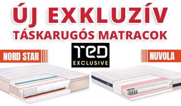 Új Ted Exkluzív táskarugós matracok