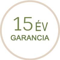 15 év garancia