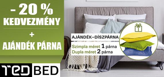 Ted matracok 20% kedvezménnyel és ajándék párnával